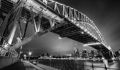 The Bridge (Emerald Imaging Photography) Tags: sydney sydneyharbour sydneycity sydneyharbourbridge sydneyoperahouse sydneynswaustralia harbour harbourbridge harboursydneythe blackandwhite bw whitebwlong longexposure le cloud clouds newsouthwales nsw seascape sunrise sunset australia australian australianlandscape