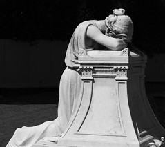 more than words (verona39) Tags: flickrfriday morethanwords grave old blackwhite bw california oakland view mountain cemetery emotion grief