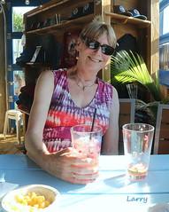 working on my 2nd margarita (Judecat (embracing autumn)) Tags: drink alcohol raspberrymargarita surfingpig wildwood newjersey me judy
