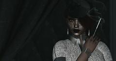 Organza (♥~ Mahogany ~♥) Tags: blackbirdcageveiledhat blogging cigarette fabulous fashion fierce kunst lic lindyinchains maxigossamer metronome minimal nutmeg organza ricielli secondlife smoke stonesworks thevault veil wasabipills