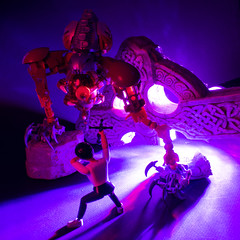 Eyegor Lurking (BC19 Prelim) (socketball) Tags: biocup 2019 bioncle lego toy moc creation monster creepy eye