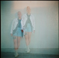 Helena (Nino Vasilkovskaya) Tags: lubitel любитель europe color colour barcelona spain españa girl white bald doubleexposure
