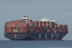 LINAH   Container Ship - Nieuwe Waterweg - Hoek van Holland (Jan de Neijs Photography) Tags: ship containerschip containership containerreus vessel megaschip zuidholland holland nederland thenetherlands dieniederlande southholland tamron150600g2 tamron tamron150600 150600 g2 cargo schiff containerschiff maasvlakte rotterdam hvh nl dehoek imo9708801 9708801 uasc linah majuro hookofholland