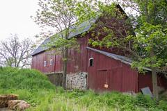 Old Red Barn, May 26, 2019 (marylea) Tags: may26 2019 spring fourmilelake dextertownship washtenawcounty michigan redbarn farm barn rural