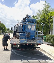 Loading on the Streets Of Delray (LarryJay99 ) Tags: loading heavyequipment streets citystreets urban urbanscenery delraybeachflorida man men guy guys dude male studly manly dudes handsome people virile bald