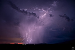 Not Alone (Steven Maguire Photography) Tags: arizona monsoon lightning landscape southwest skyscape sunset thunderstorm clouds