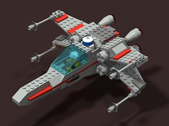 Classic X-wing v1.1 (aggie_92) Tags: lego starwars classic xwing incom t65 t65b fighter starfighter rebel