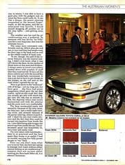 1990 Toyota Corolla Seca Hatchback Page 2 Aussie Original Magazine Article (Darren Marlow) Tags: 1 9 19 90 1990 t toyota c corolla s seca h hatchback car cool collectible collectors classic a automobile v vehicle j jap japan japanese asian asia 90s