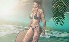 ⱽⁱᵗᵃᵐⁱⁿ ˢᵉᵃ.... (scarlettrose.karsin) Tags: tattoo vegastattoo beach sea amitieposes maitreya ink bodyart sl secondlife genusproject