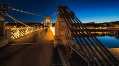 Lyon Passerelle du Collège (Nat_L2_photographies) Tags: lyon rhône nuit longexposure poselongue lumières architecture passerelle pont