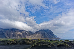 Iceland (Hemo Kerem) Tags: iceland island a7rm2 a7rii loxia21 zeissloxia21mmf28distagon loxia21mmf28 loxia2821 landscape travel roadtrip green water sea snow grass horses zeiss loxia 21mm distagon manualfocus mf sony sonya7rm2 ilce7rm2 alpha stokksnes vestrahorn