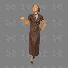 1970s Dollyrockers Prairie Column Maxi Dress with Matching Headscarf (Rickenbackerglory.) Tags: vintage siegel mannequin 1970s dollyrockers prairie column maxidress matchingheadscarf