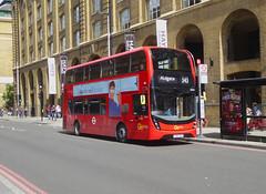 GAL EH210 - YY67UTK - OSF - TOOLEY STREET LONDON BRIDGE - THUR 20TH JUNE 2019 (Bexleybus) Tags: goahead go ahead london tfl route adl dennis enviro 400 mcc hybrid eh210 yy67utk 343 tooley street bridge station underground