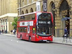 SLN 13098 - BL65OYU - TOOLEY STREET LONDON BRIDGE - THUR 20TH JUNE 2019 (Bexleybus) Tags: stagecoach london selkent tfl route adl dennis enviro 400 mcc 13098 bl65oyu 47 hybrid tooley street bridge station underground