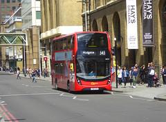 GAL EH210 - YY67UTK - TOOLEY STREET LONDON BRIDGE - THUR 20TH JUNE 2019 (Bexleybus) Tags: goahead go ahead london tfl route adl dennis enviro 400 mcc hybrid eh210 yy67utk 343 tooley street bridge station underground