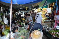 Yes, this is the market the train will pass through (shankar s.) Tags: seasia thailand bangkok krungthepmahanakhon krungthep bangkoksuburbs outskirtsofbangkok maeklongrailway localmarket localcommerce riversideshopping touristattraction runningrightthroughthemarket dangerouslyclose localproduce fruitandvegetablemarket wetmarket maeklong maeklongtrainmarket maeklongrailwaymarket talatromhup umbrellapulldownmarket exotic safetyhazard railwaystation trainstation srt staterailwaysofthailand dieselrailcartrain dieselmultipleunit dmu