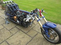 Yamaha 8 cylinder dragracer (teamheronsuzuki) Tags: yamaha 8 cylinder dragracer w8 v8 tz750 tz 750