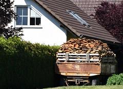 (Gerlinde Hofmann) Tags: germany thuringia village bürden wood trailer rusty