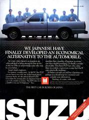 1986 Isuzu P'UP Pickup Truck USA Original Magazine Advertisement (Darren Marlow) Tags: 1 6 8 9 19 86 1986 i isuzu p pup pickup t truck c car cool collectible collectors classic a automobile v vehicle j jap japan japanese asian asia 80s