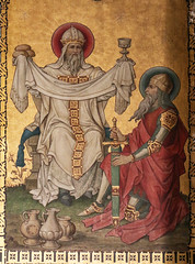 Melchizedek (Lawrence OP) Tags: melchizedek saints corpuschristi lancaster stjosephs painting abram bread wine highpriest