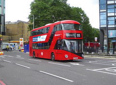 SLN LT316 - LTZ1316 - OLD STREET ROUNDABOUT - THUR 20TH JUNE 2019 (Bexleybus) Tags: old street roundabout underground station wrightbus new routemaster nbfl borismaster boris bus stagecoach london east hybrid lt316 ltz1316 tfl route 55