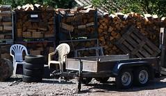 (Gerlinde Hofmann) Tags: germany thuringia village bürden wood trailer chair two