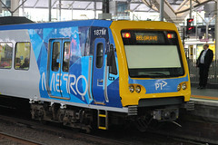 187M, Southern Cross, Melbourne, September 15th 2016 (Southsea_Matt) Tags: 187m 15m alstom xtrapolis ptv southerncross melbourne victoria australia september 2016 spring canon 60d sigma 1850mm train railway railroad publictransport passengertravel vehicle