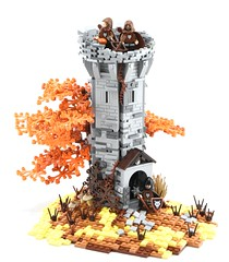 Wolfpack Watchtower (Ayrlego) Tags: lego wolfpack castle watchtower