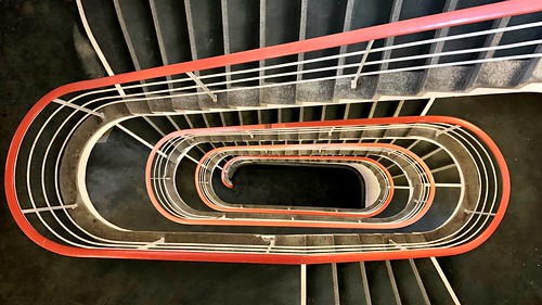 One of many university staircases at the TU Berlin - from above - Part two