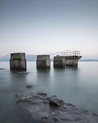 Lost Pier (Robert_Franz) Tags: abstract futuristic fineart longexposure art italy garda