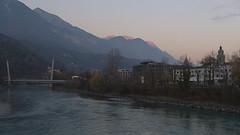 Innsbruck-2018_29 (rhomboederrippel) Tags: rhomboederrippel fujifilm xe1 november 2018 europe austria tyrolia innsbruck clearsky dusk inn river alpenglühen