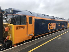 50007 at Newton Abbot railway station (David Jones) Tags: class50 railtour newtonabbot railway station train 50007