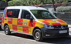 SAMUR-PC (emergenciases) Tags: emergencias españa 112 samurpc madrid ayuntamientodemadrid sanitarios vehículo volkswagen caddy utp unidaddetransportedepersonal