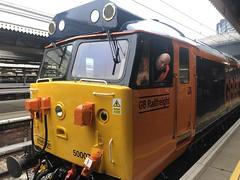 50007 at London Paddington railway station (David Jones) Tags: class50 railtour londonpaddington railway station train 50007