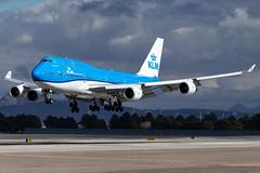 KLM Royal Dutch Airlines Boeing 747-406 (PH-BFN) (Yoshioka_Photography) Tags: 747400 klm 747406 phbfn boeing747 queenoftheskies lasvegas las klas amsterdam ces2019