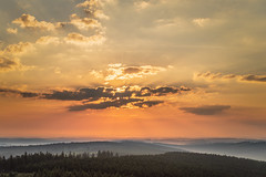 the day after #2 (Stefan A. Schmidt) Tags: sun sunbeam cloud clouds germany golden landscape dust fog