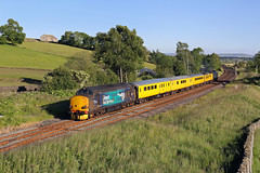 37218 Settle Junction 21st June 2019 (John Eyres) Tags: 37218 tnt 37059 passing settle junction with 1q18 1418 blackpool north derby rtc 210619 pole shot