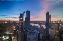 Lower Manhattan Sunrise Time Lapse Photo (20190615-DSC09439-Edit v2) (Michael.Lee.Pics.NYC) Tags: newyork sunrise bluehour timelapse composite aerial hotelview lowermanhattan cityhall parkrow eastriver brooklynbridge manhattanbridge brooklyn construction architecture cityscape sony a7rm2 zeissloxia21mmf28