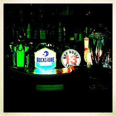 Bright Lights (Julie (thanks for 9 million views)) Tags: 100xthe2019edition 100x2019 bar lager beer lights colourful hss kingsbayinn arthurstown wexford ireland irish pub alcohol sliderssunday hipstamaticapp squareformat rnli image69100 iphonese