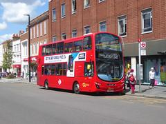 GAL WVL303 - LX59CYA - ELTHAM HIGH STREET - SAT 22ND JUNE 2019 (Bexleybus) Tags: eltham high street shopping centre se9 south east london goahead go ahead wrightbus gemini volvo b9tl tfl route 321 wvl303 lx59cya bx garage loan bus