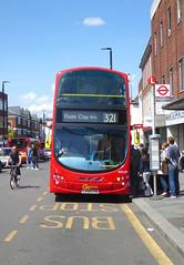 GAL WVL281 - LX59CYW - ELTHAM HIGH STREET - SAT 22ND JUNE 2019 (Bexleybus) Tags: eltham high street shopping centre se9 south east london goahead go ahead wrightbus gemini volvo b9tl tfl route 321 wvl281 lx59cyw