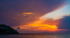 Colourful Sunset  (Looking towards  Mount Athos)  (Lemnos - Limnos - North East Aegean) (Panasonic Lumix S1 & S Lumix 24-105mm f4 Zoom) (1 of 1) (markdbaynham) Tags: greece greek grecia greka limnos lemnos sunset settingsin colour sky seascape gr hellas hellenic greekisland greekaegean myrina mypina myrinatown northaegeanisland northeastaegean panasonic lumix lumixer lumixszoom lumixs1 panasonics1 dcs1 s1 fullframe ff fullframemirrorless panasonicfullframe mirrorless mirrorlesscamera mirrorlessfullframe 24105mmf4 24105mm zoomlens mountathos mountain landscape view seaview clouds panasoniclumix panasoniclumixs1 islandofhephaestus aegeanisland lmount panasoniclmount