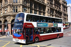 The number 10 service at Edinburgh (Chris Baines) Tags: lothian buses volvo b9tl wrighr eclipse gemini sn57 dfp 860 10 service torphin