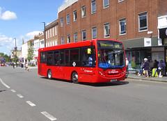 SLN 36535 - LX12DHP - ELTHAM HIGH STREET - SAT 22ND JUNE 2019 (Bexleybus) Tags: eltham high street shopping centre se9 south east london stagecoach selkent adl dennis enviro 200 tfl route 124 36535 lx12dhp