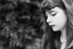 Thoughts (Paulie-W) Tags: portrait girl monochrome