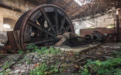 Big Romina (trip_mode) Tags: abandoned decay urbex urban exploration exploring trip derelict trespassing coal mine engine machinery big wheel steam power steampowered hoist machine