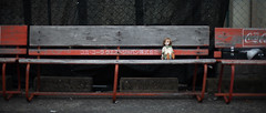 She alone awaits the bus. (Khronos-dolls) Tags: doll bisquedoll seisen seisendolls poupeeenbiscuit