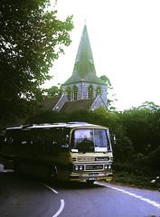 Slide 141-33 (Steve Guess) Tags: mervyns east stratten winchester hants hampshire england gb uk bedford duple coach church ttc518n yrq