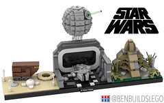 "Lego Star Wars - ""A New Hope"" Skyline MOC (BenBuildsLego) Tags: star wars lego afol moc cool new hope episode iv micro scale microscale tiny skyline architecture death darth vader tatooine millennium falcon mini yavin awesome benbuildslego empire imperial"