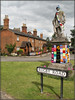 Statue. Redressed......... (Jason 87030) Tags: statue villeage womens institute scarf hat wool yarn bomb bombing celebration centenary 100years birthday montag douglas john scott warks warwickshire dunchurrch cool nice knitting wooly jumper sun afternoon june 2019 redo retake redressed man